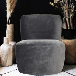 Fauteuil DOUDY - Velvet Anthracite