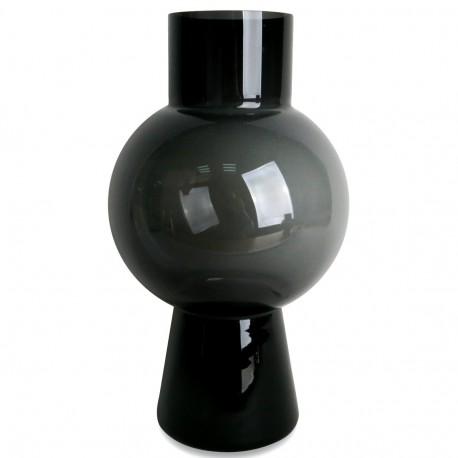Vase PELOTA - Large - verre soufflé Noir