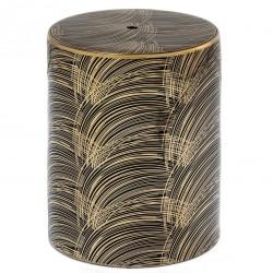 Tabouret KAISEY - Céramique Black & Gold