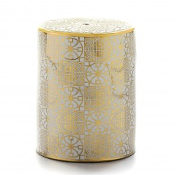 Tabouret HEISEY - Céramique White & Gold