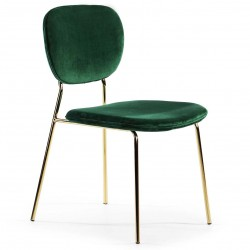 Chaise DELICIA Velvet & Gold - Emeraude