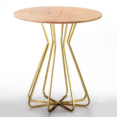 Table d'appoint PHLOX - Mabre Rosa Portugal & Laiton