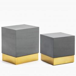 Duo de tables CUBIK - Grey & Gold