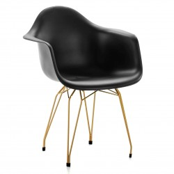 Fauteuil ROOZ - Black & Gold