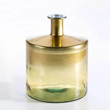 Vase ASHU - verre soufflé - Gold