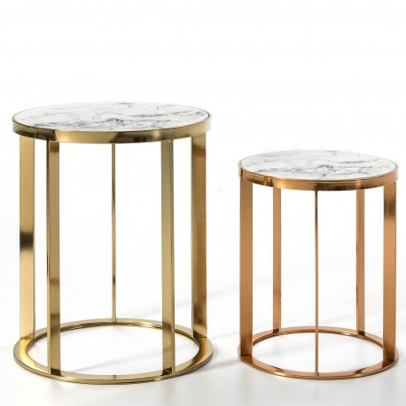 Duo de tables AZRA - Marble & Gold