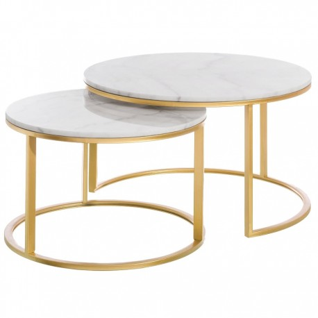 Duo de tables ASSAL Marble & Gold