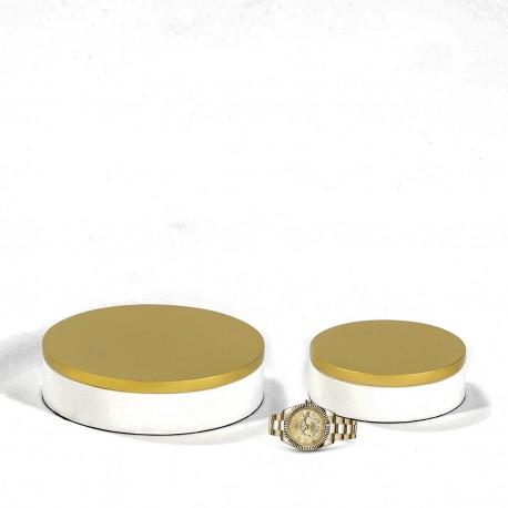Duo de boites Déco IRINA - White & Gold