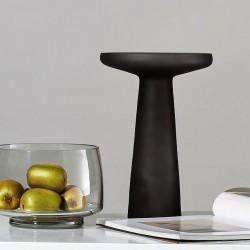 Vase NEROLI en verre soufflé - Noir mat