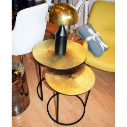 Duo de tables THALIA - Black & Gold