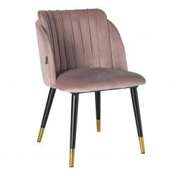 Chaise JULY Velvet & Gold - Blush