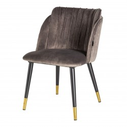 Chaise JULY Velvet & Gold - Taupe