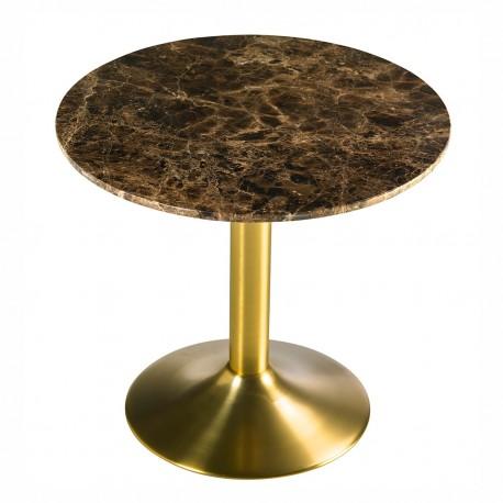Table d'appoint ACHAM - Marbre & Laiton