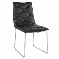 Chaise MONZA Cuir - Black or White