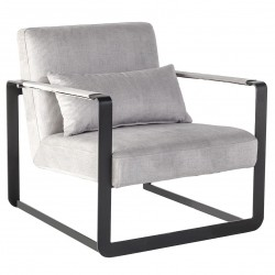 Fauteuil BLOC - Modern Black & Grey