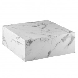 Table basse carrée CUBE - Mabre blanc de Carrare