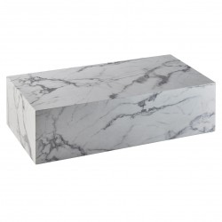 Table basse rectangulaire CUBE - Mabre blanc de Carrare