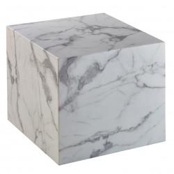 Table auxiliaire carrée CUBE - Mabre blanc de Carrare