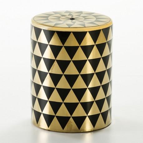 Tabouret MEISEY - Céramique Black & Gold