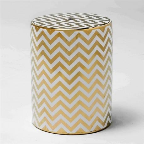 Tabouret ZEISEY - Céramique White & Gold