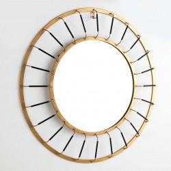 Miroir LINEAR - Black & Gold