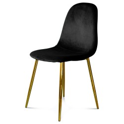 Chaise BAYAN - Black & Gold