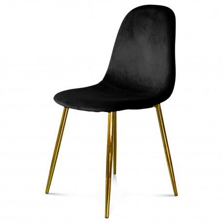 Chaise BAYAN - Black & Gold