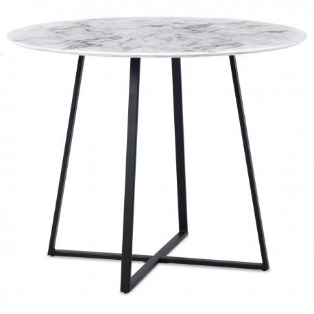 Table à manger CRUZ - Façon marbre Black Edition