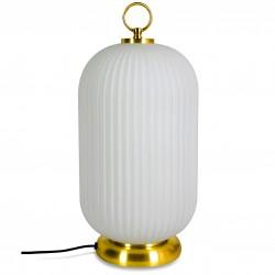 Lampe à poser JARA - Verre opalin & Laiton