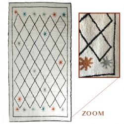 Tapis DIHYA 200x300cm - Blanc à motifs Noirs pastels
