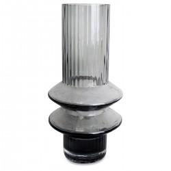 Vase ZAGY en verre soufflé Gris