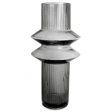 Vase ZAGO en verre soufflé Gris