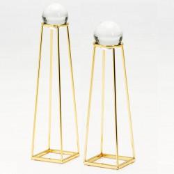 Duo de sculptures BELEM Cristal & Gold