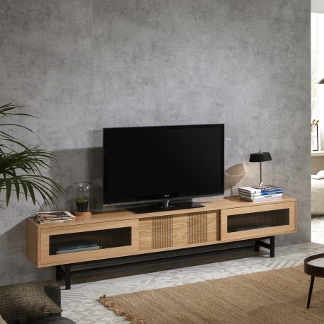 Meuble TV WILSON - Bois de chêne
