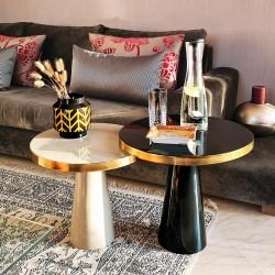 Duo de tables JENSEN - Pearl, Black & Gold