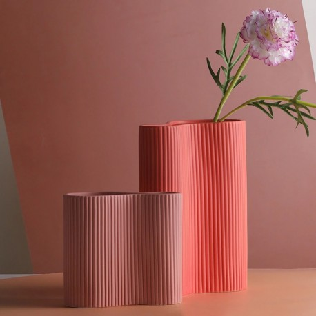 Vase INFINITY - L - Pastel Corail
