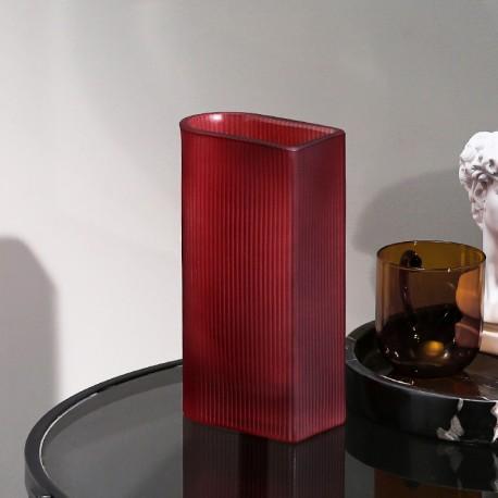 Vase STREAK - M - Mat Red