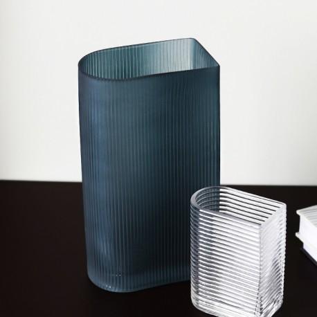 Vase STREAK - L - Mat Blue
