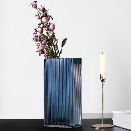 Vase STREAKY - L - Blue