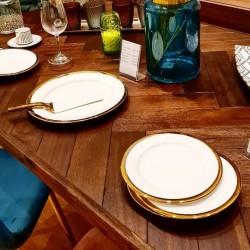 Set à dessert 8 pièces - White & Gold