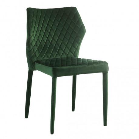 Chaise ALMA - Green velvet