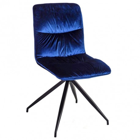 Chaise ATSHO - Velours Navy blue
