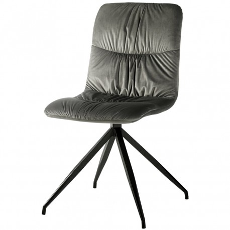 Chaise ATSHO - Velours Gris souris