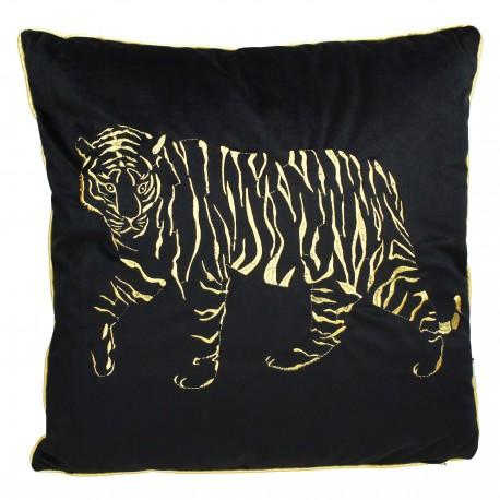 Coussin velvet TIGER - 45x45 - Black & Gold