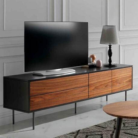 Meuble TV VALETTE - Noyer
