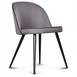 Chaise GONG Cordon - Toile grise