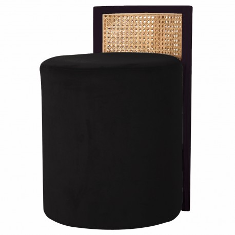 Tabouret CANNA Velours - Black Edition