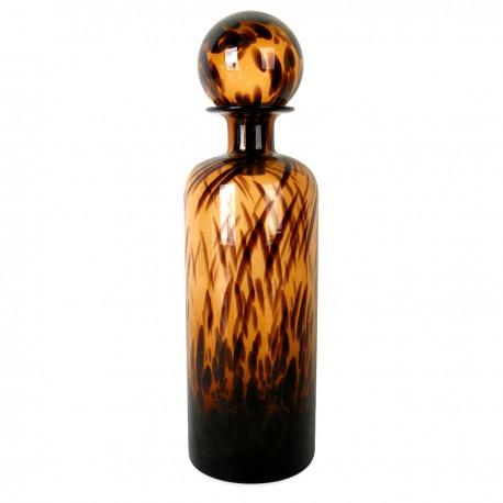 Vase BOTEO en verre soufflé - Ambre Léopard