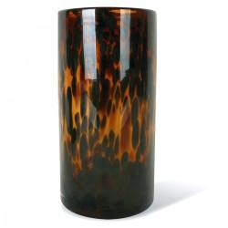 Vase TUBE Lungo en verre soufflé - Ambre Léopard