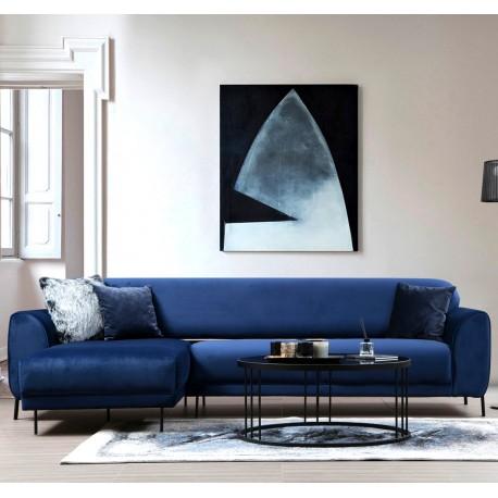 Canapé d'angle ANCHOR - Bleu Cobalt